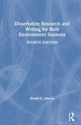 Dissertation Research and Writing for Built Environment Students: 4th Edition (Hardback) book cover