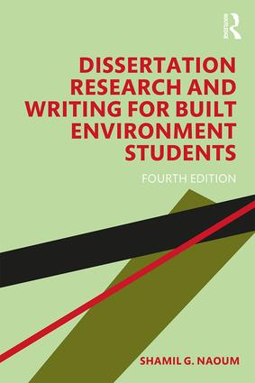 Dissertation Research and Writing for Built Environment Students book cover