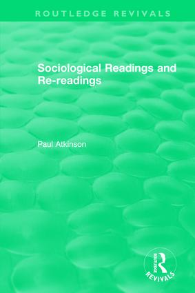 Sociological Readings and Re-readings (1996): 1st Edition (Hardback) book cover