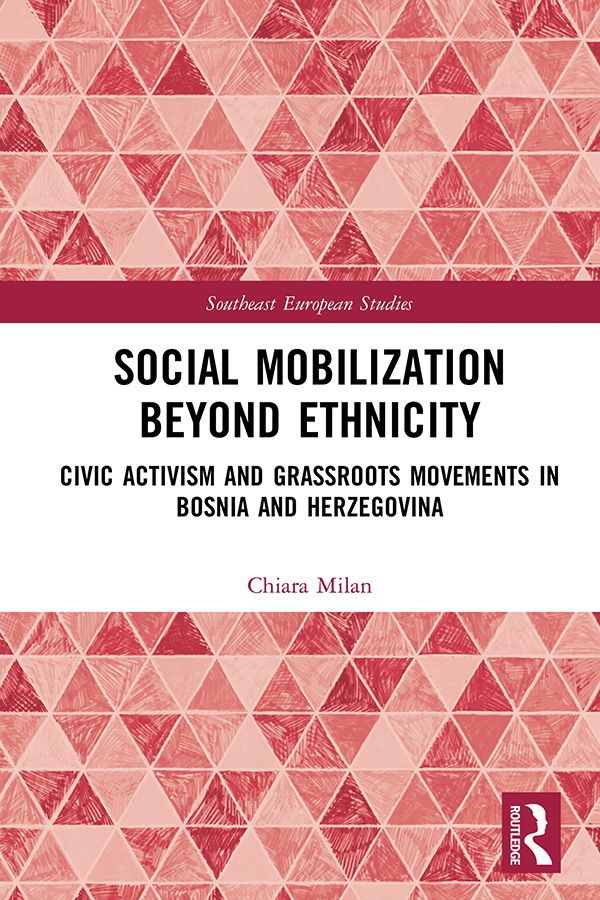Social Mobilization Beyond Ethnicity: Civic Activism and Grassroots Movements in Bosnia and Herzegovina book cover