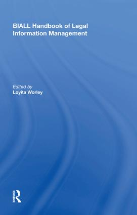 BIALL Handbook of Legal Information Management: 1st Edition (Hardback) book cover