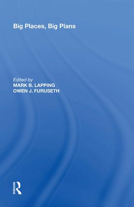 Big Places, Big Plans: 1st Edition (Hardback) book cover