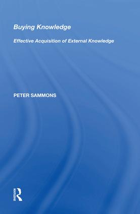 Buying Knowledge: Effective Acquisition of External Knowledge, 1st Edition (Hardback) book cover
