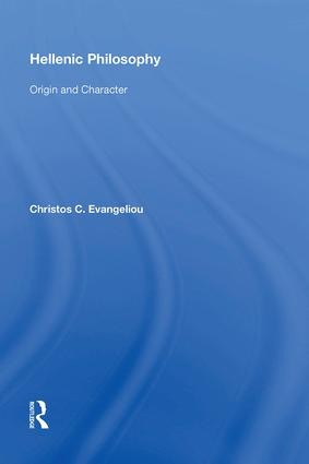 Hellenic Philosophy: Origin and Character book cover