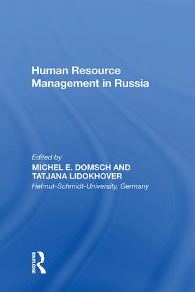 Human Resource Management in Russia: 1st Edition (Hardback) book cover