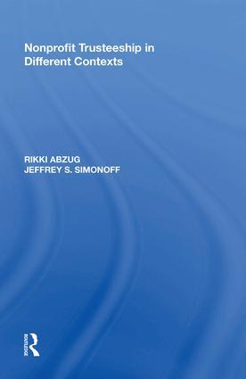 Nonprofit Trusteeship in Different Contexts: 1st Edition (e-Book) book cover
