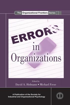 Errors in Organizations book cover