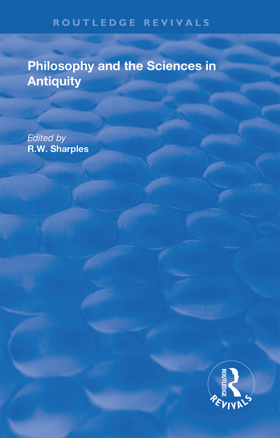 Philosophy and the Sciences in Antiquity: 1st Edition (Hardback) book cover