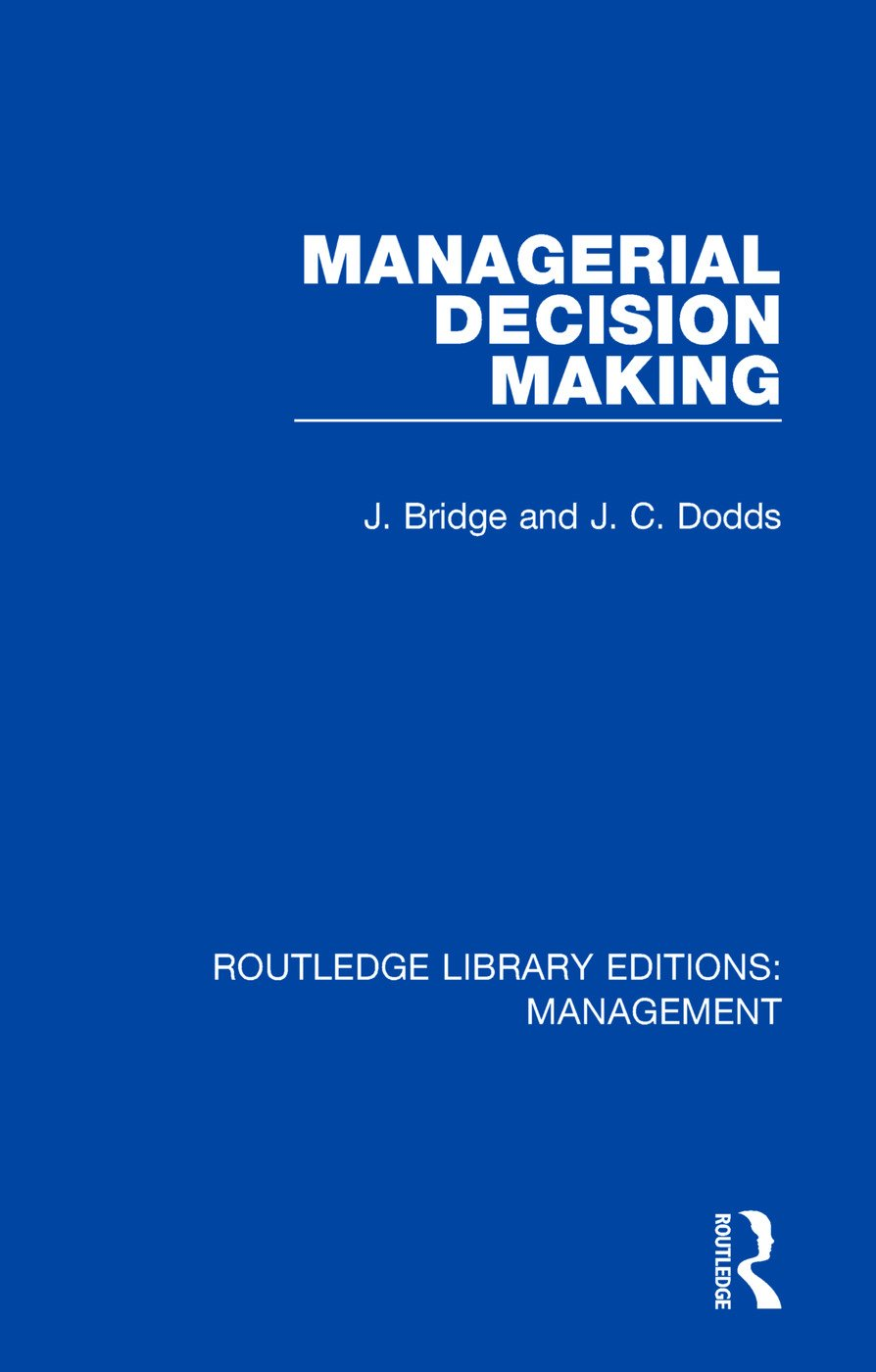 Managerial Decision Making: 1st Edition (e-Book) book cover