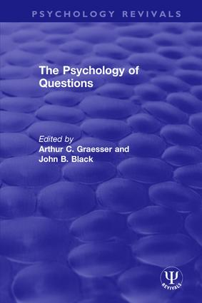The Psychology of Questions book cover