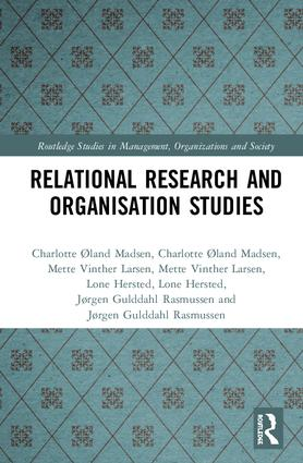 Relational Research and Organisation Studies: 1st Edition (Hardback) book cover