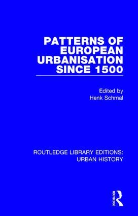 Patterns of European Urbanisation Since 1500 book cover