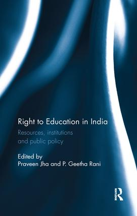 Right to Education in India: Resources, institutions and public policy, 1st Edition (Paperback) book cover