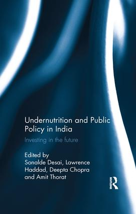 Undernutrition and Public Policy in India: Investing in the future book cover