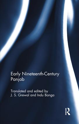 Early Nineteenth-Century Panjab: 1st Edition (Paperback) book cover