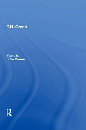T.H. Green: 1st Edition (Hardback) book cover