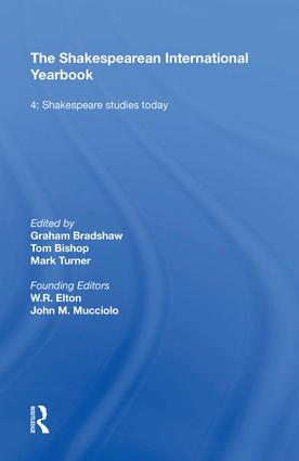 The Shakespearean International Yearbook: Volume 4: Shakespeare Studies Today book cover