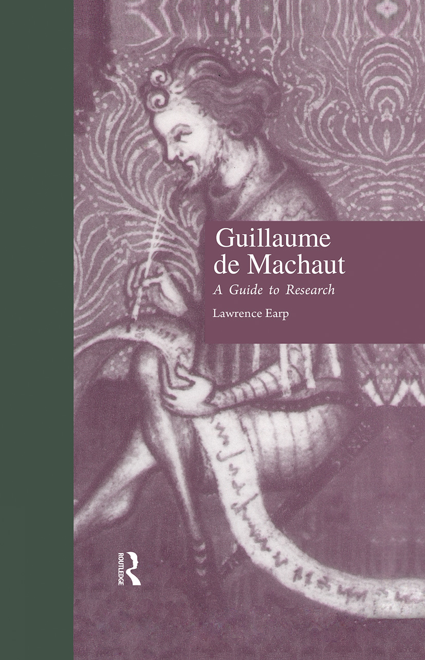 Guillaume de Machaut: A Guide to Research, 1st Edition (Hardback) book cover
