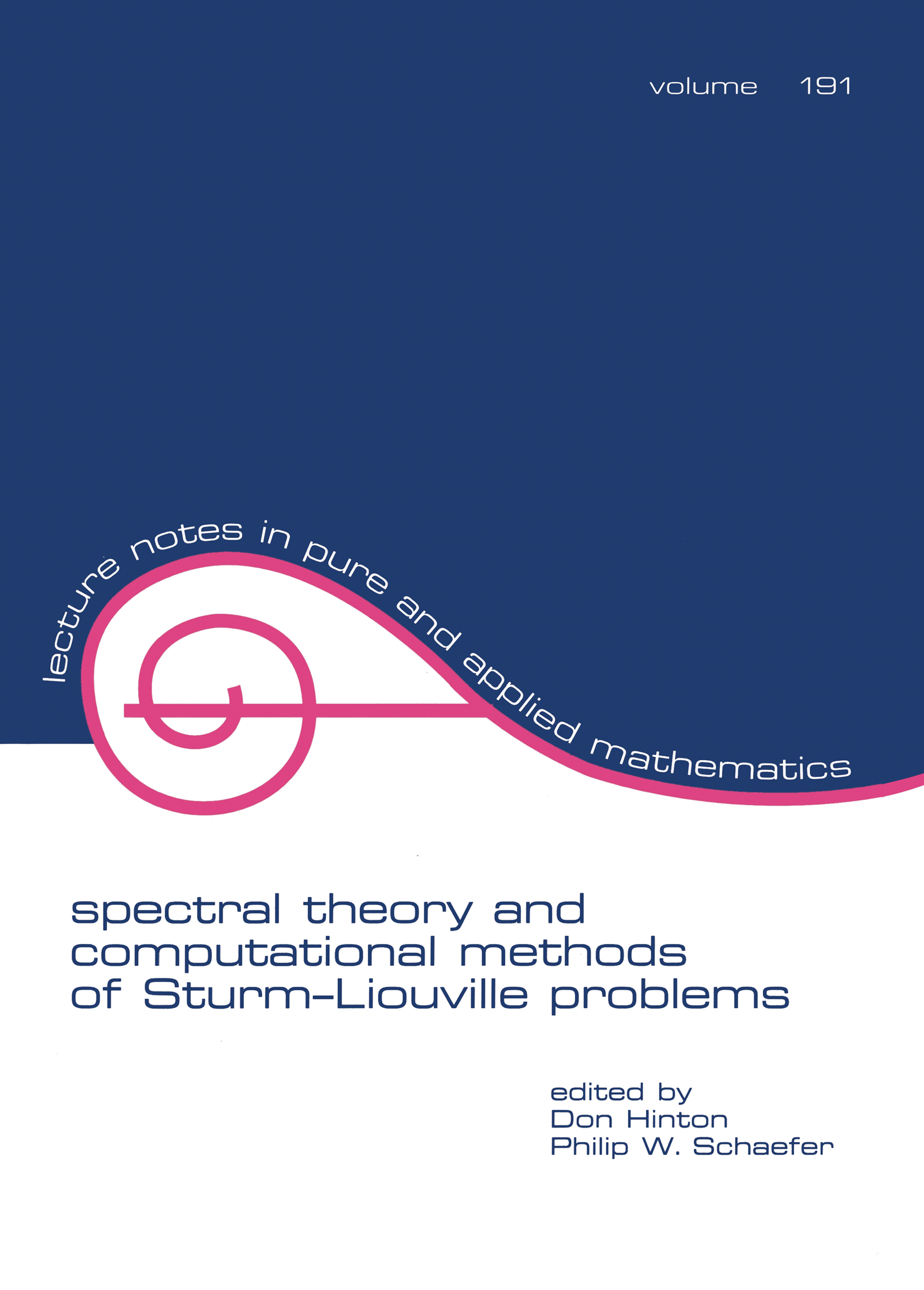 Spectral Theory & Computational Methods of Sturm-Liouville Problems: 1st Edition (Paperback) book cover
