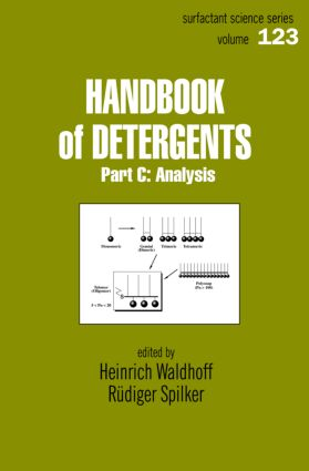 Handbook Of Detergents, Part C: Analysis, 1st Edition (Hardback) book cover