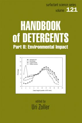 Handbook of Detergents, Part B: Environmental Impact, 1st Edition (Hardback) book cover