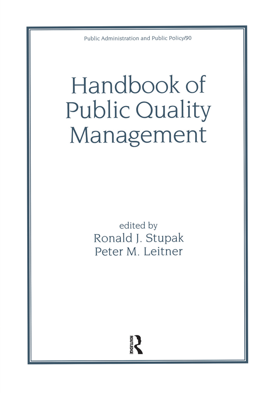 Handbook of Public Quality Management: 1st Edition (Hardback) book cover