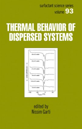 Thermal Behavior of Dispersed Systems: 1st Edition (Hardback) book cover