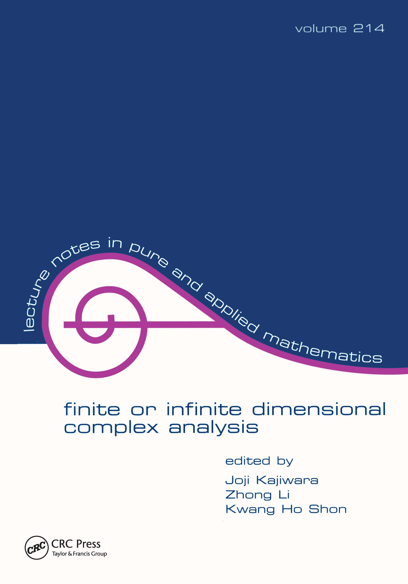Finite or Infinite Dimensional Complex Analysis