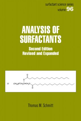 Analysis of Surfactants, Second Edition: 2nd Edition (Hardback) book cover