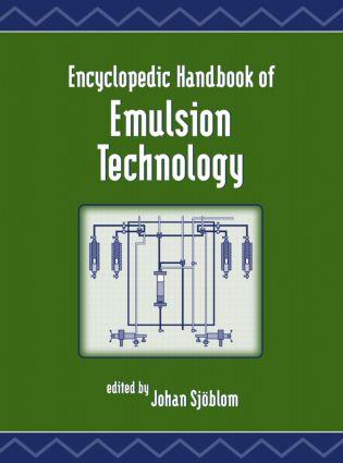 Encyclopedic Handbook of Emulsion Technology: 1st Edition (Hardback) book cover