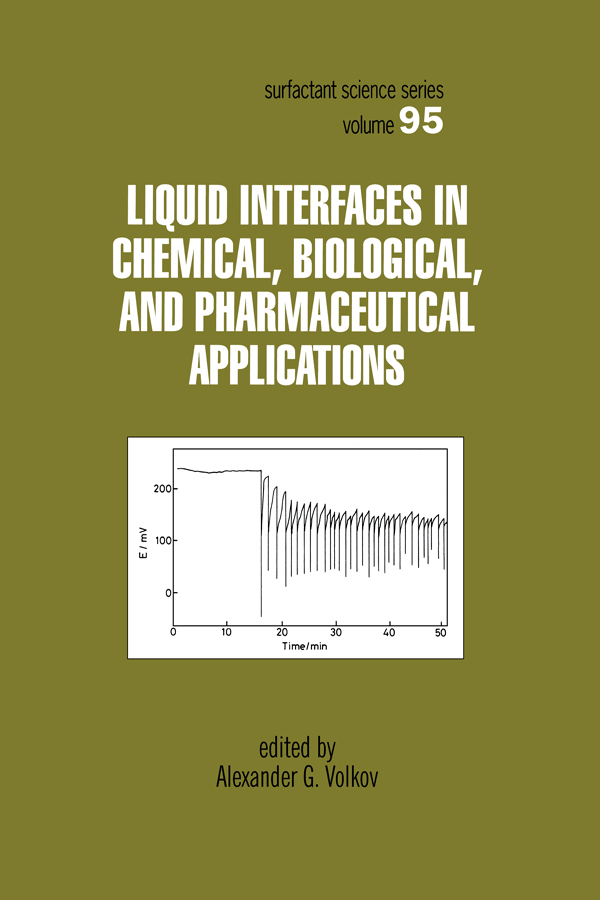 Liquid Interfaces In Chemical, Biological And Pharmaceutical Applications: 1st Edition (Hardback) book cover