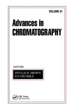 Advances in Chromatography: Volume 41, 1st Edition (Hardback) book cover