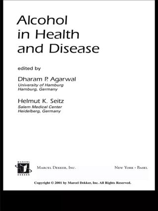 Alcohol in Health and Disease: 1st Edition (Hardback) book cover