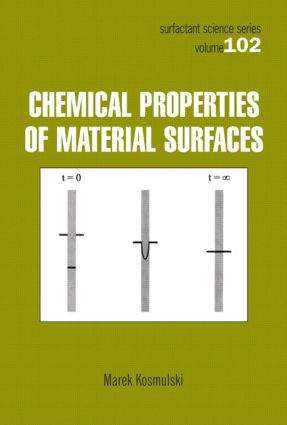 Chemical Properties of Material Surfaces: 1st Edition (Hardback) book cover