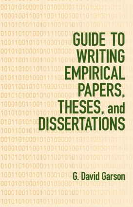 Guide to Writing Empirical Papers, Theses, and Dissertations: 1st Edition (Hardback) book cover