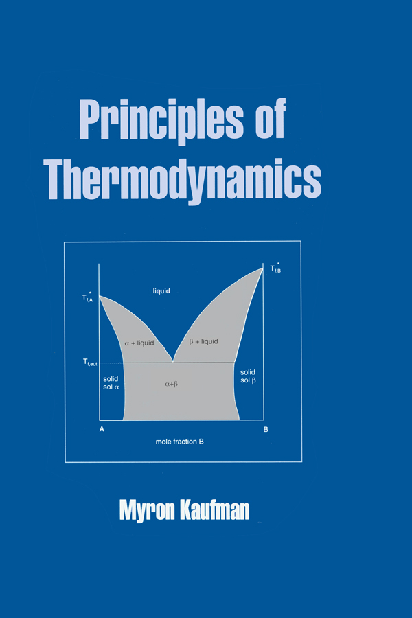 Principles of Thermodynamics: 1st Edition (Hardback) book cover