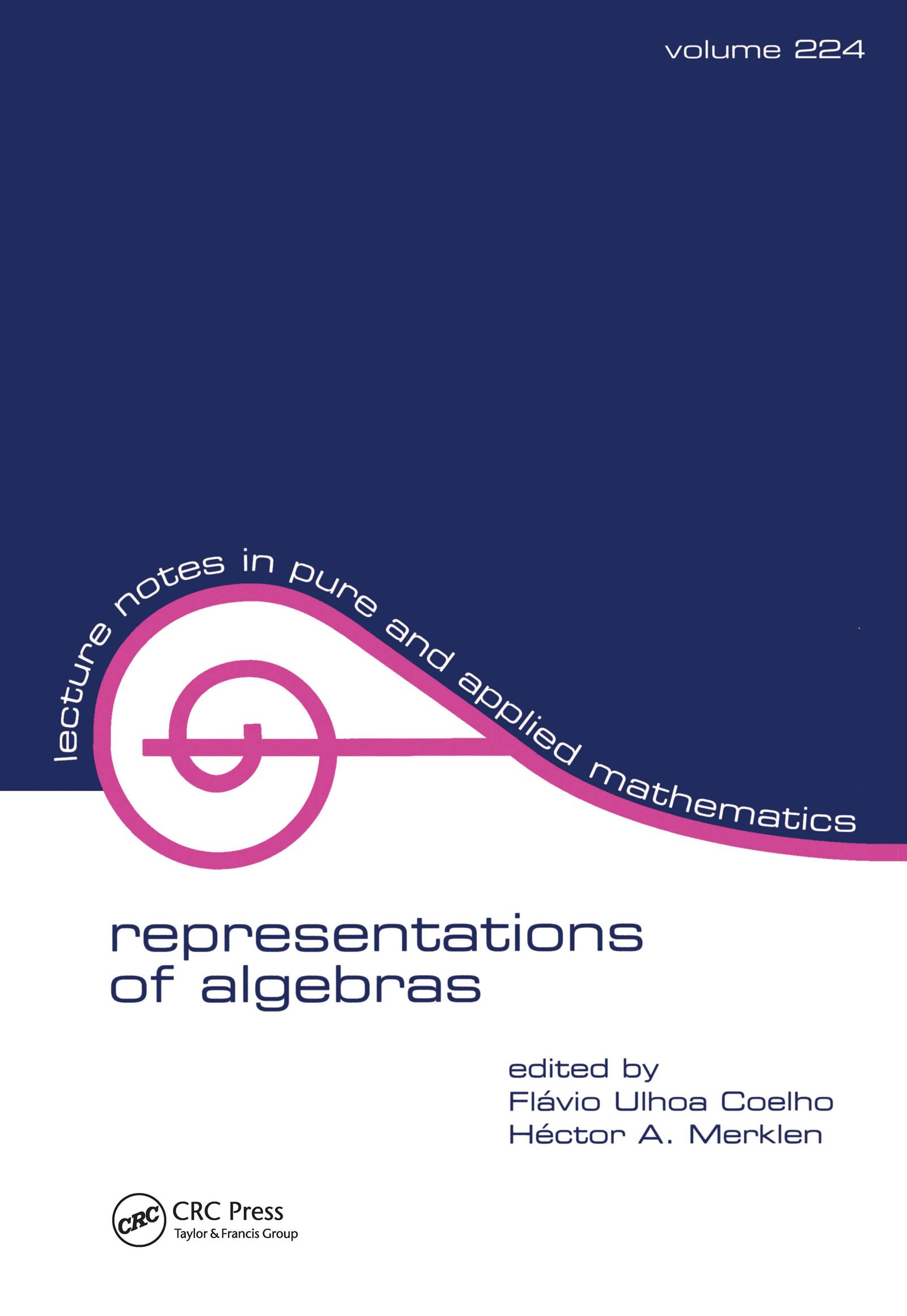 Representations of Algebras: 1st Edition (Paperback) book cover