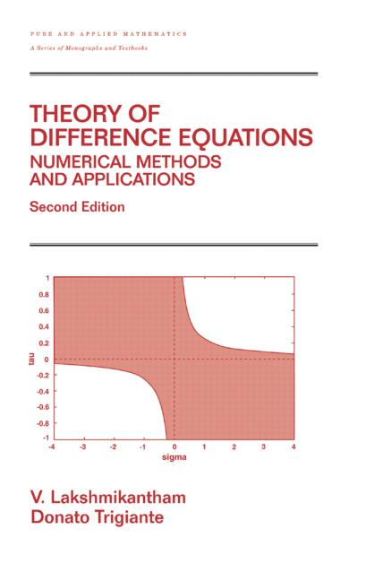 Theory Of Difference Equations Numerical Methods And Applications: 2nd Edition (Hardback) book cover