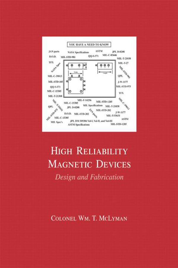 High Reliability Magnetic Devices: Design & Fabrication, 1st Edition (Hardback) book cover