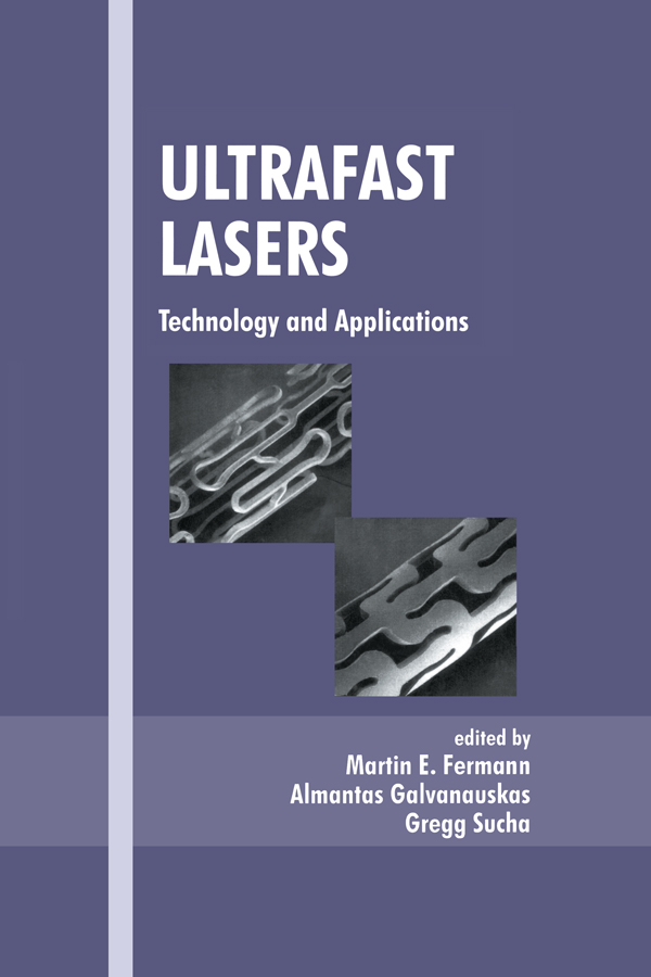 Ultrafast Lasers: Technology and Applications, 1st Edition (Hardback) book cover