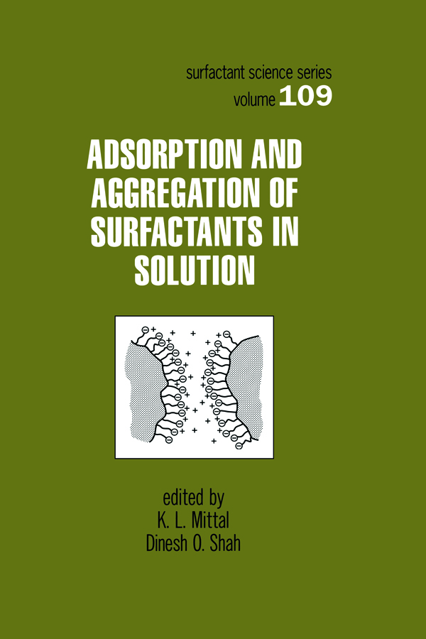 Adsorption and Aggregation of Surfactants in Solution: 1st Edition (Hardback) book cover