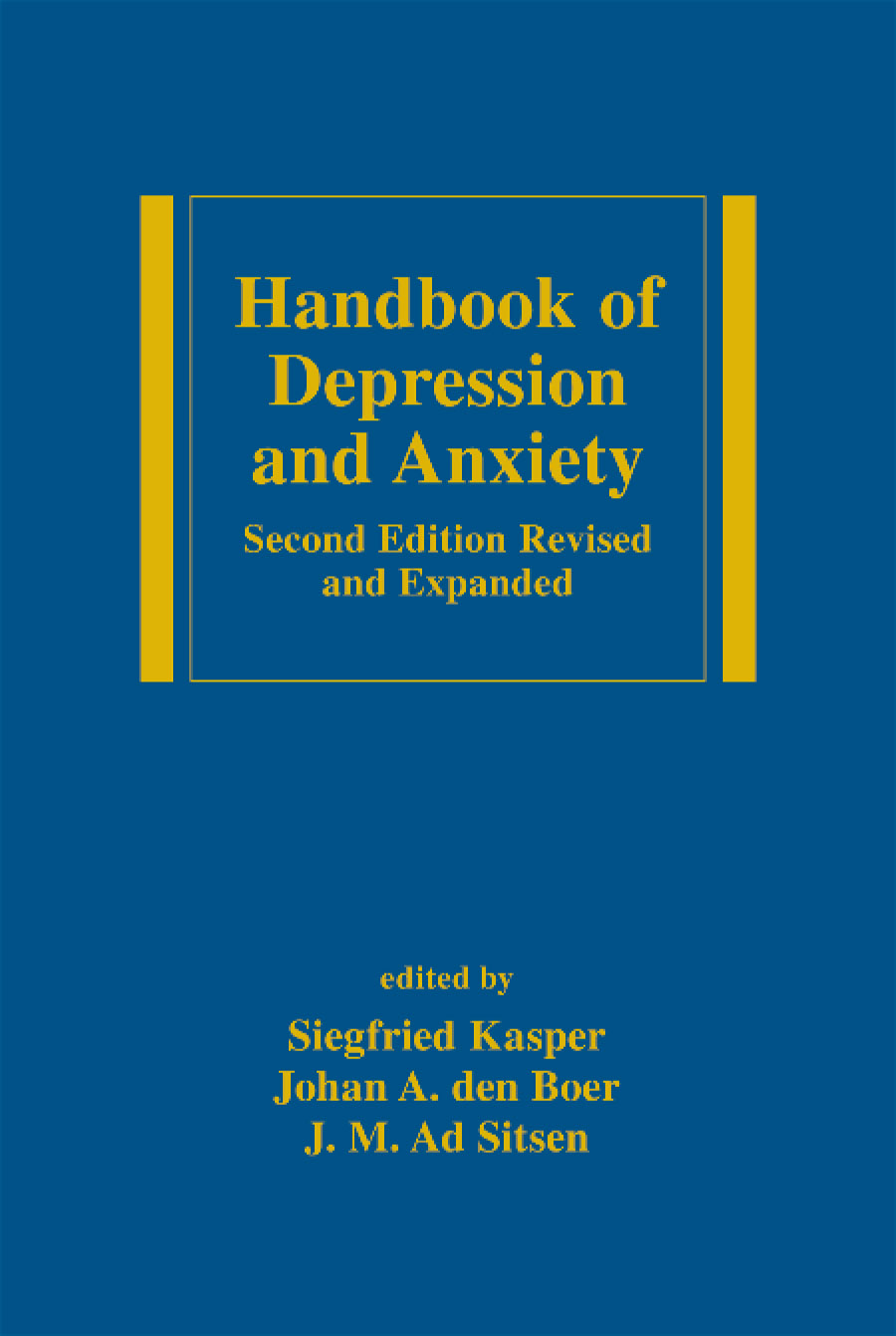 Handbook of Depression and Anxiety: A Biological Approach, Second Edition, 2nd Edition (Hardback) book cover