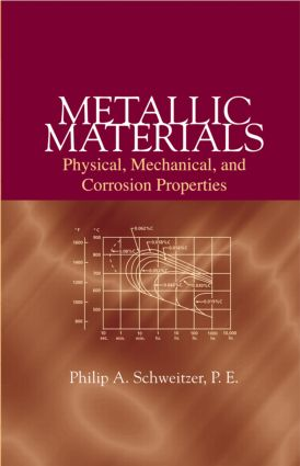 Metallic Materials: Physical, Mechanical, and Corrosion Properties, 1st Edition (Hardback) book cover