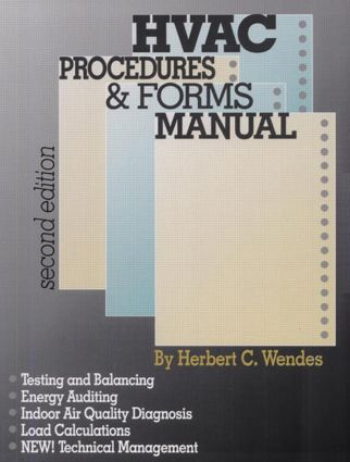 HVAC Procedures & Forms Manual, Second Edition: 2nd Edition (Paperback) book cover