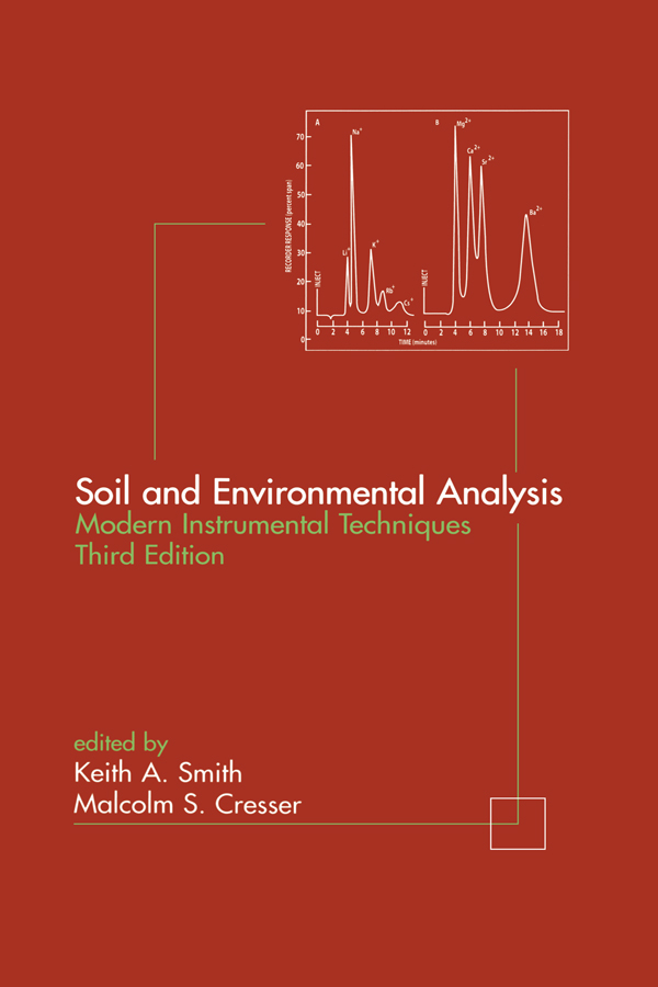 Soil and Environmental Analysis: Modern Instrumental Techniques book cover