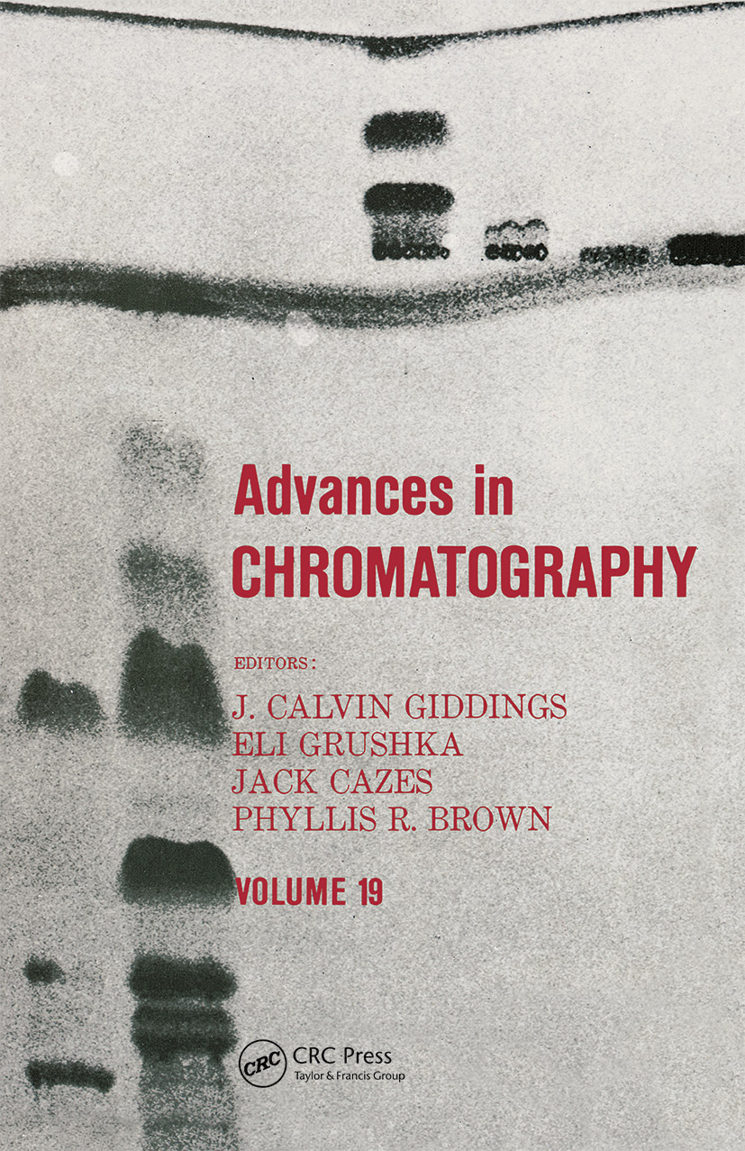 Advances in Chromatography: Volume 19, 1st Edition (Hardback) book cover