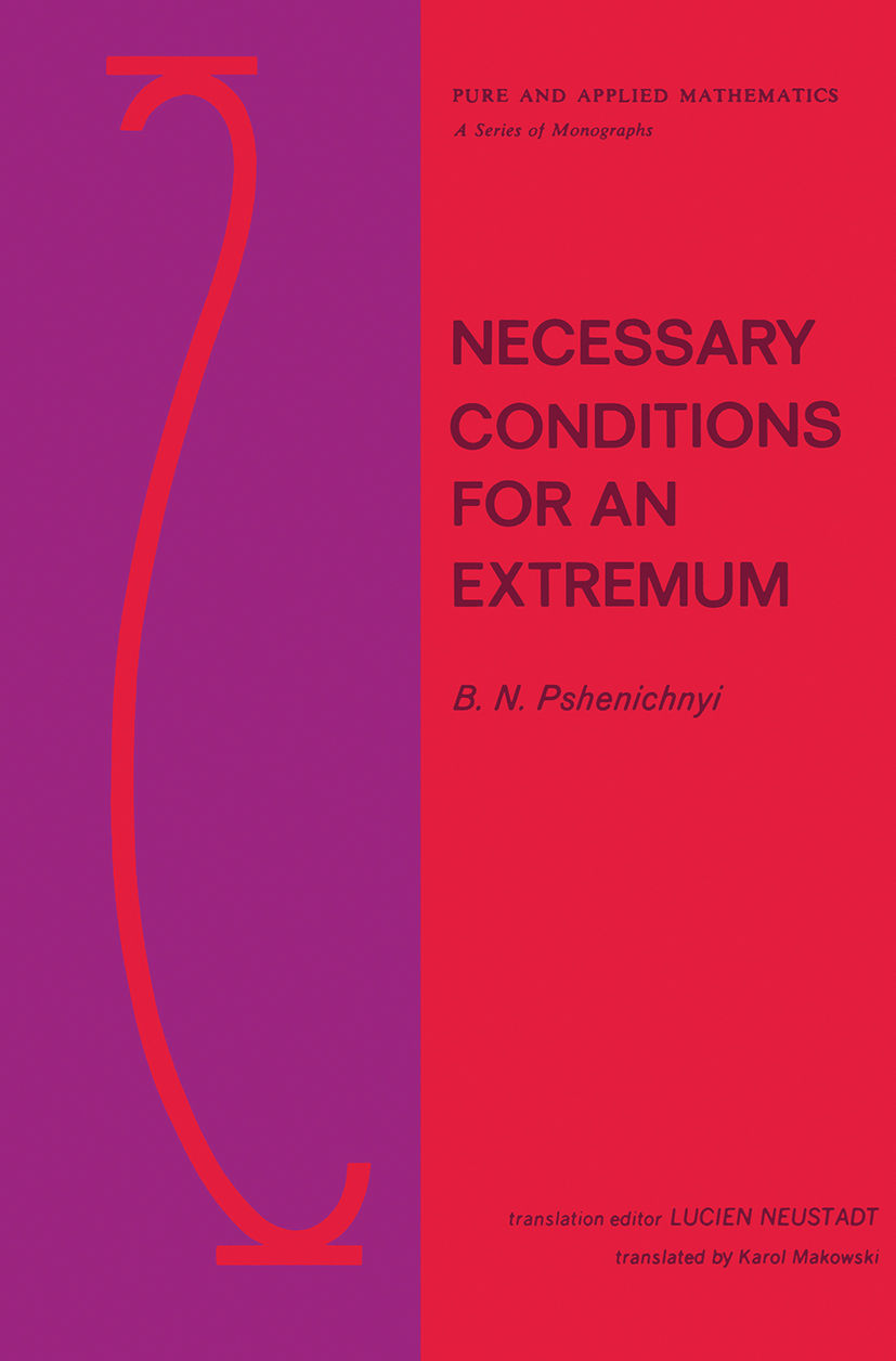 Necessary Conditions for an Extremum: 1st Edition (Hardback) book cover