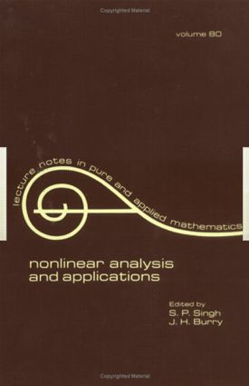 nonlinear analysis and applications: 1st Edition (Paperback) book cover