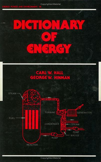 Dictionary of Energy: 1st Edition (Hardback) book cover