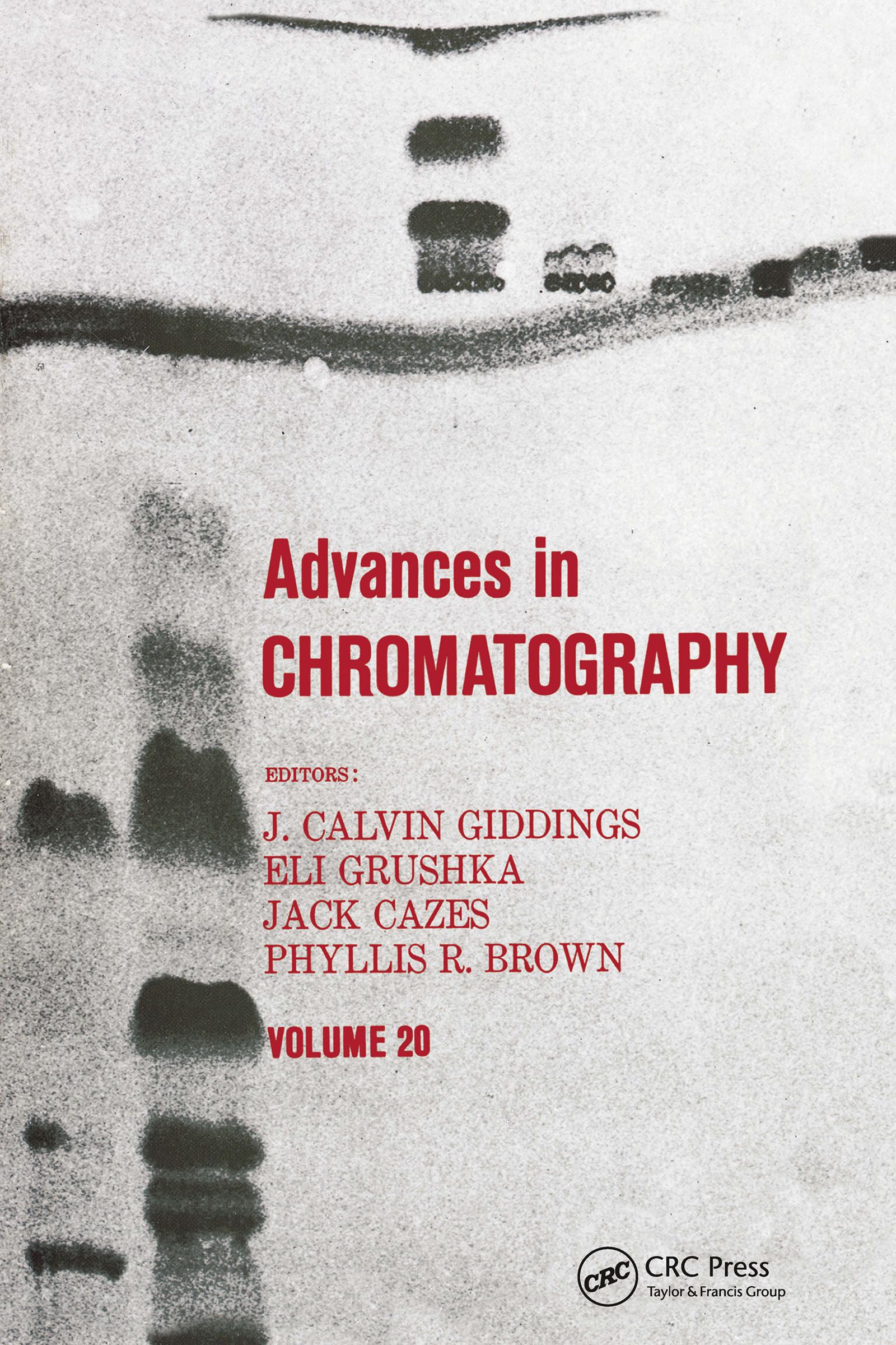 Advances in Chromatography: Volume 20 book cover
